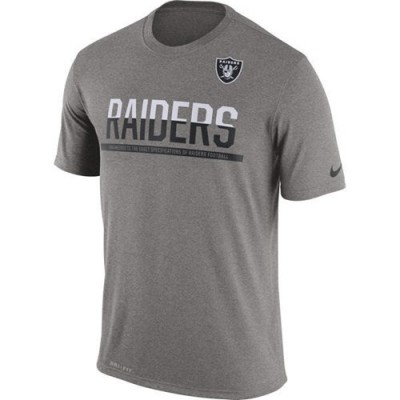 NFL Oakland Raiders Nike Practice Legend Performance T-Shirt Grey