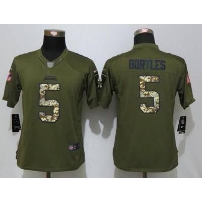 NFL Nike Jaguars 5 Blake Bortles Green Salute To Service Women Jersey