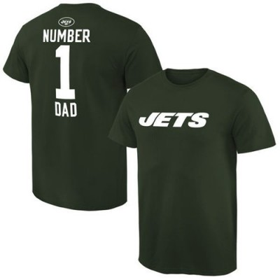 NFL New York Jets Pro Line Number 1 Dad T-Shirt Green