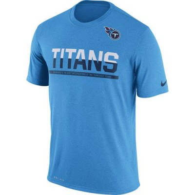 NFL Tennessee Titans Nike Practice Legend Performance T-Shirt Blue
