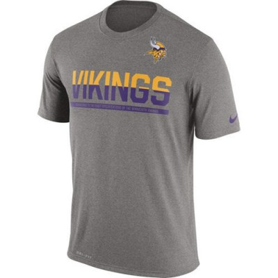 NFL Minnesota Vikings Nike Practice Legend Performance T-Shirt Grey