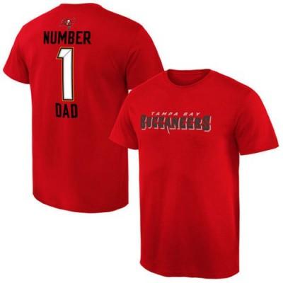 NFL Tampa Bay Buccaneers Pro Line Number 1 Dad T-Shirt Red