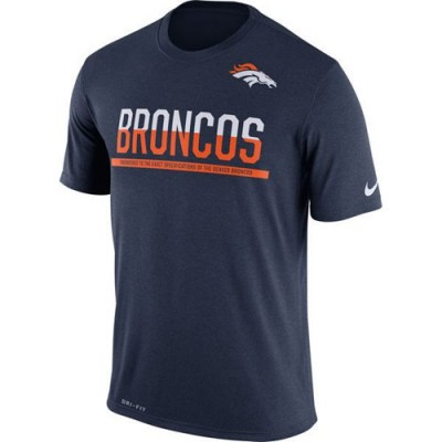 NFL Denver Broncos Nike Practice Legend Performance T-Shirt Navy Blue