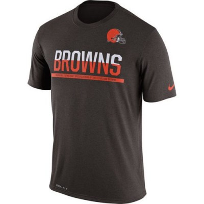 NFL Cleveland Browns Nike Practice Legend Performance T-Shirt Brown