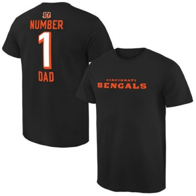 NFL Cincinnati Bengals Pro Line Number 1 Dad T-Shirt Black
