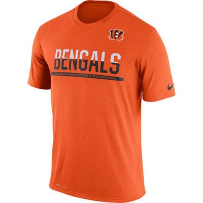 NFL Cincinnati Bengals Nike Practice Legend Performance T-Shirt Orange