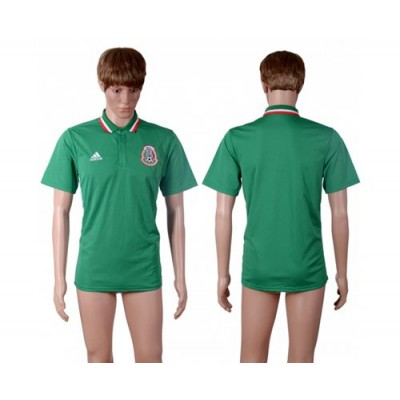 Soccer Country Mexico Blank Green Polo T-shirt