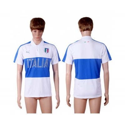 Soccer Country Italy Blank White Polo Shirts