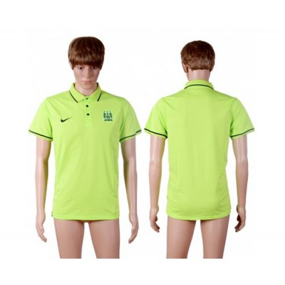 Soccer Club Manchester City Blank Green Polo T-shirt