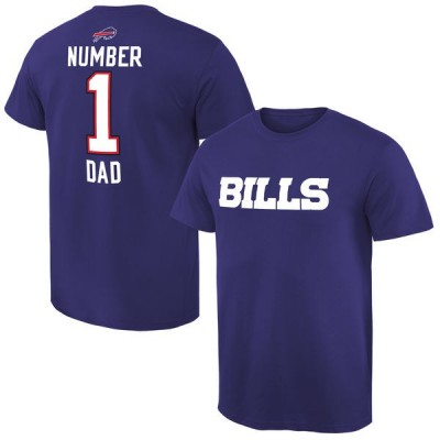 NFL Buffalo Bills Mens Pro Line Royal Blue Number 1 Dad T-shirt