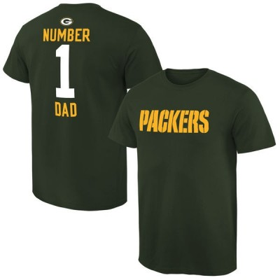 NFL Green Bay Packers Mens Pro Line Green Number 1 Dad T-shirt