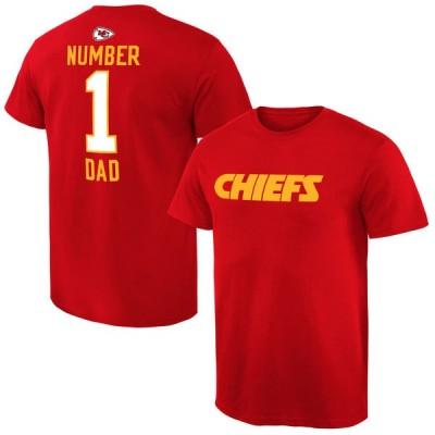 NFL Kansas City Chiefs Mens Pro Line Red Number 1 Dad T-shirt