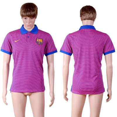 Soccer Barcelona Purple Men's Polo Shirt