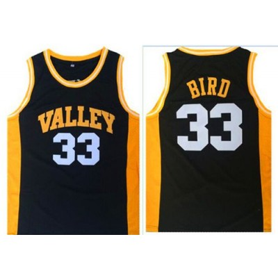 High School Springs Valley 33 Larry Bird Black NBA Men Jersey