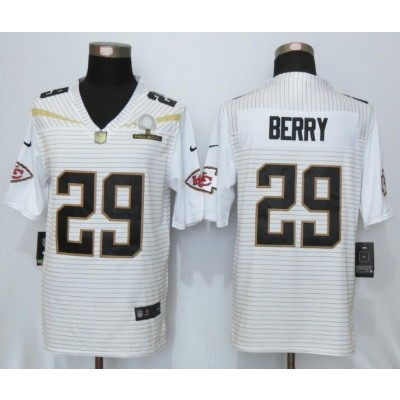 Nike Chiefs 29 Eric Berry White 2016 Pro Bowl Team Rice Mens Stitched NFL Elite Jersey