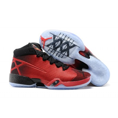 Air Jordan XXX 30 Shoes Black Red