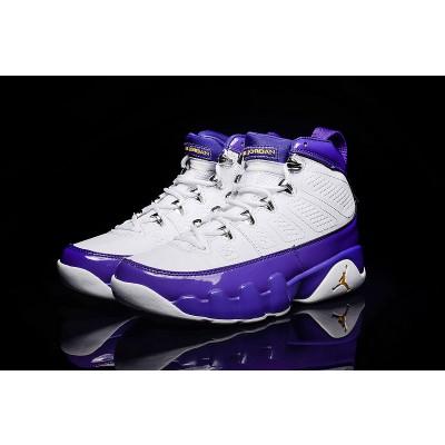Air jordan 9 Retro White Purple Shoes
