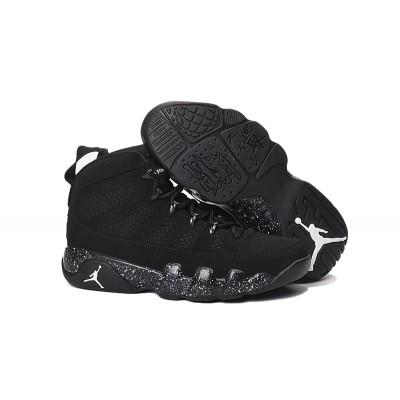 Air jordan 9 Retro White Spot Black Shoes