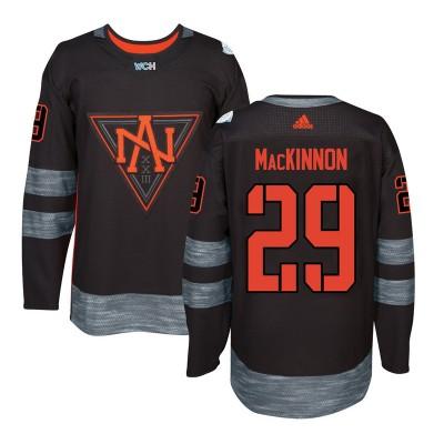 Hockey Team North America 29 Nathan MacKinnon Black 2016 World Cup Men Jersey