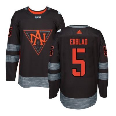 Hockey Team North America 5 Aaron Ekblad Black 2016 World Cup Men Jersey