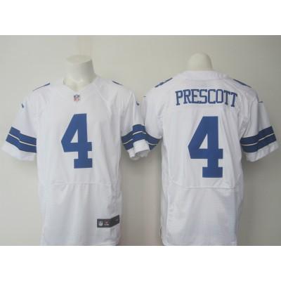 Nike Cowboys 4 Dak Prescott Elite White Jersey