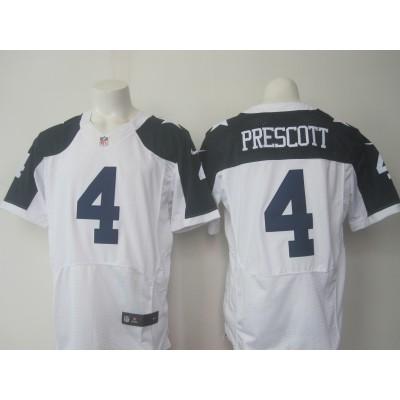 Nike Cowboys 4 Dak Prescott Thanksgiving White Elite Jersey