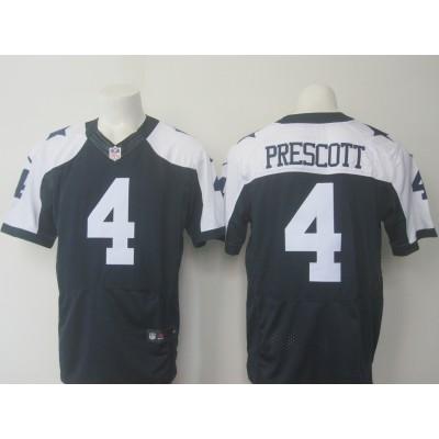 Nike Cowboys 4 Dak Prescott Thanksgiving Navy Blue Elite Jersey