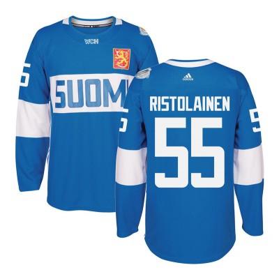 Hockey Team Finland 55 Atte Ohtamaa 2016 World Cup Of Light Blue Men Jersey