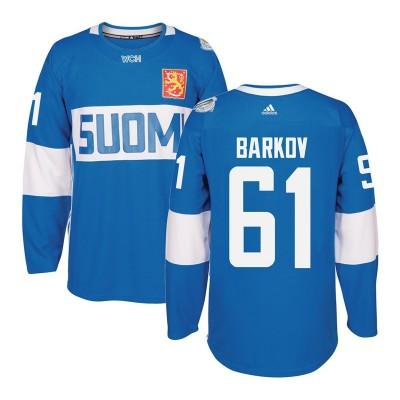 Hockey Team Finland 61 Aleksander Barkov 2016 World Cup Of Light Blue Men Jersey