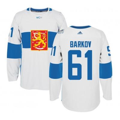 Hockey Team Finland 61 Aleksander Barkov 2016 World Cup Of White Men Jersey