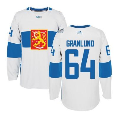 Hockey Team Finland 64 Mikael Granlund 2016 World Cup Of White Men Jersey