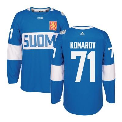Hockey Team Finland 71 Leo Komarov 2016 World Cup Of Light Blue Men Jersey