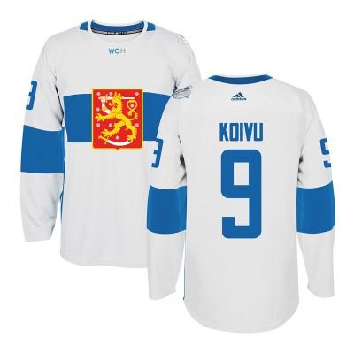 Hockey Team Finland 9 Mikko Koivu 2016 World Cup Of White Men Jersey