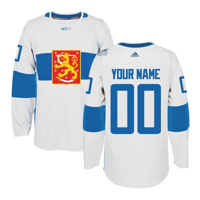 Team Finland 2016 World Cup Of Hockey White Customized Men Jersey