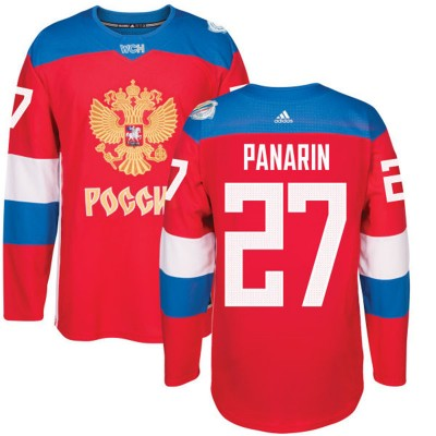 Hockey Team Russia 27 Artemi Panarin 2016 World Cup Of Red Men Jersey