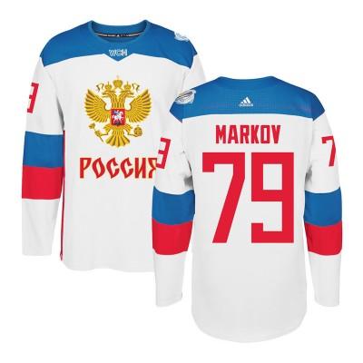 Hockey Team Russia 79 Anton Belov 2016 World Cup Of White Men Jersey
