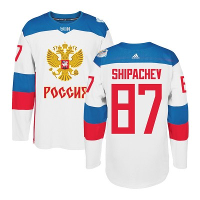 Hockey Team Russia 87 Vadim Shipachev White 2016 World Cup Of Men Jersey