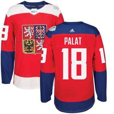 Hockey Team Czech Republic 18 Ondrej Palat 2016 World Cup Of Red Men Jersey