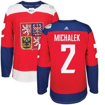 Hockey Team Czech Republic 2 Zbynek Michalek 2016 World Cup Of Red Men Jersey
