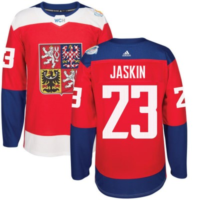 Hockey Team Czech Republic 23 Dmitrij Jaskin 2016 World Cup Of Red Men Jersey