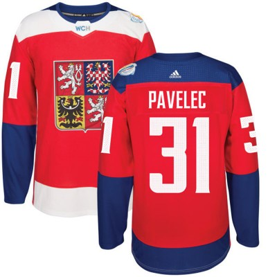 Hockey Team Czech Republic 31 Ondrej Pavelec 2016 World Cup Of Red Men Jersey