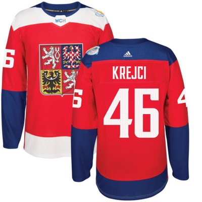 Hockey Team Czech Republic 46 David Krejci 2016 World Cup Of Red Men Jersey