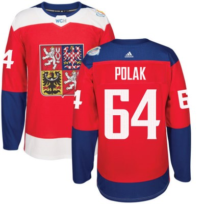 Hockey Team Czech Republic 64 Roman Polak 2016 World Cup Of Red Men Jersey
