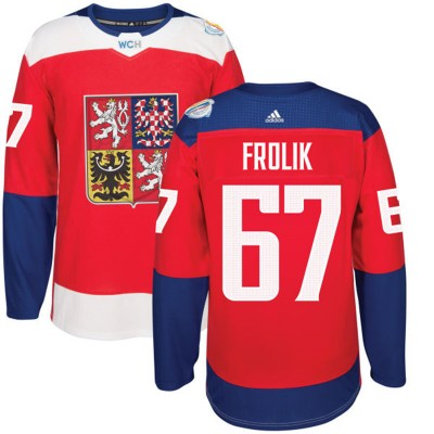Hockey Team Czech Republic 67 Michael Frolik 2016 World Cup Of Red Men Jersey