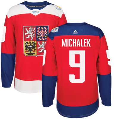 Hockey Team Czech Republic 9 Zbynek Michalek 2016 World Cup Of Red Men Jersey