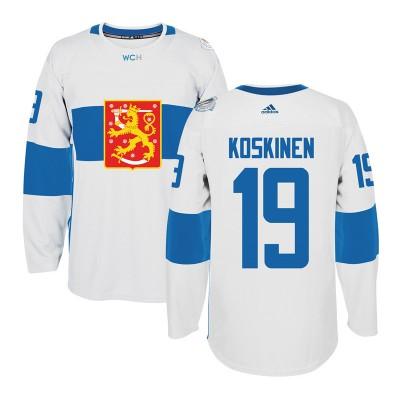 Hockey Team Finland 19 Mikko Koskinen 2016 World Cup Of White Men Jersey