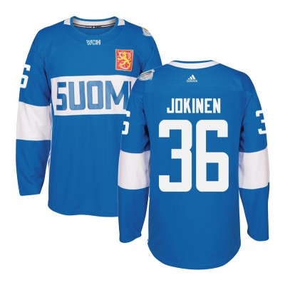 Hockey Team Finland 36 Jussi Jokinen 2016 World Cup Of Light Blue Men Jersey