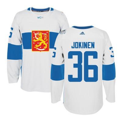 Hockey Team Finland 36 Jussi Jokinen 2016 World Cup Of White Men Jersey