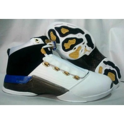 Air Jordan 17 Original White Black Yellow Shoes