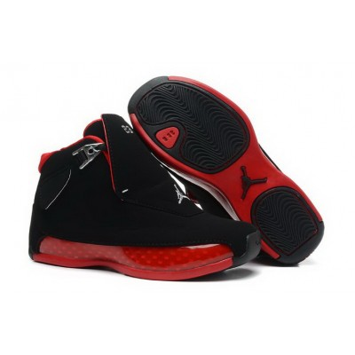 Air Jordan 18 Black Varsity Red Shoes
